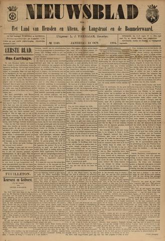 Nieuwsblad het land van Heusden en Altena de Langstraat en de Bommelerwaard 1894-10-13