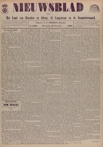 Nieuwsblad het land van Heusden en Altena de Langstraat en de Bommelerwaard 1908-11-18