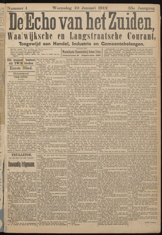 Echo van het Zuiden 1912-01-11