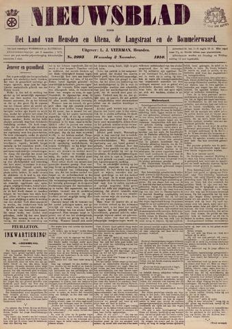 Nieuwsblad het land van Heusden en Altena de Langstraat en de Bommelerwaard 1910-11-02