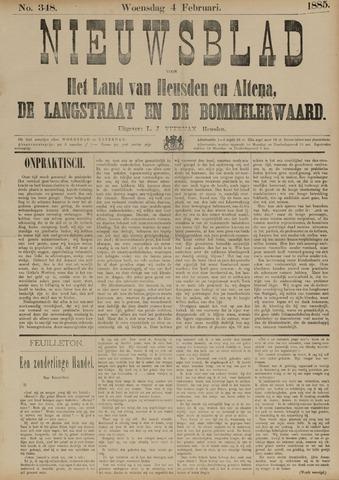 Nieuwsblad het land van Heusden en Altena de Langstraat en de Bommelerwaard 1885-02-04