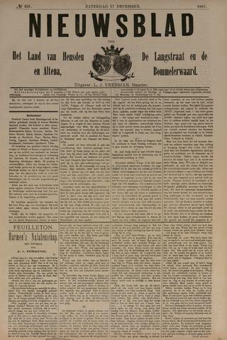Nieuwsblad het land van Heusden en Altena de Langstraat en de Bommelerwaard 1887-12-17