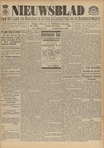 Nieuwsblad het land van Heusden en Altena de Langstraat en de Bommelerwaard 1923-03-23