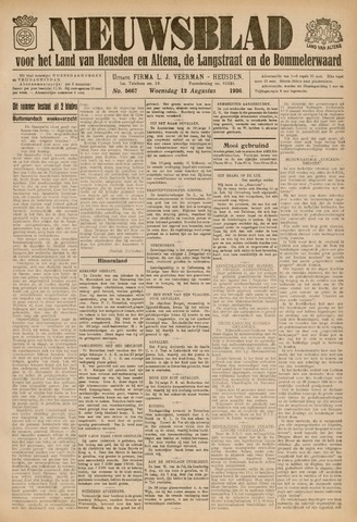 Nieuwsblad het land van Heusden en Altena de Langstraat en de Bommelerwaard 1936-08-12