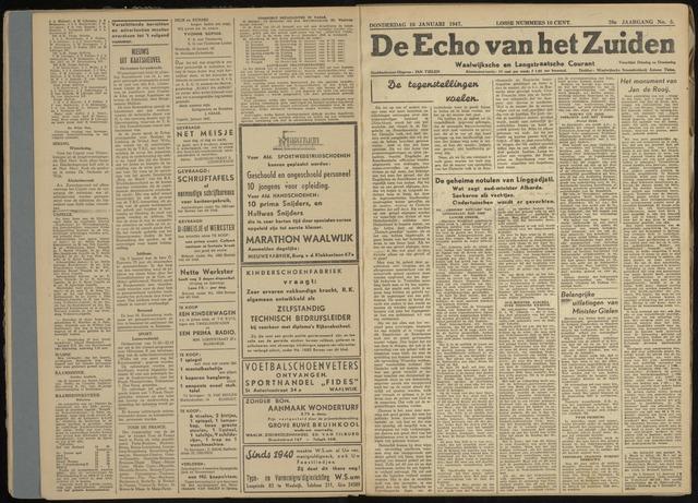 Echo van het Zuiden 1947-01-16