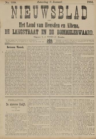 Nieuwsblad het land van Heusden en Altena de Langstraat en de Bommelerwaard 1885-01-03