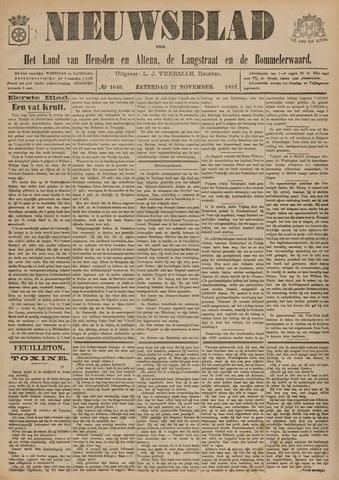 Nieuwsblad het land van Heusden en Altena de Langstraat en de Bommelerwaard 1897-11-27
