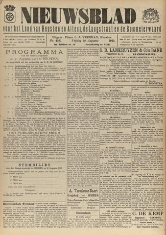 Nieuwsblad het land van Heusden en Altena de Langstraat en de Bommelerwaard 1925-08-28
