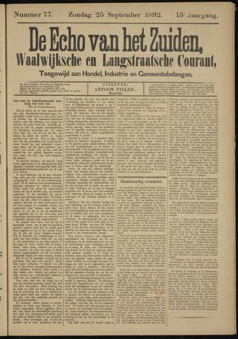 Echo van het Zuiden 1892-09-25