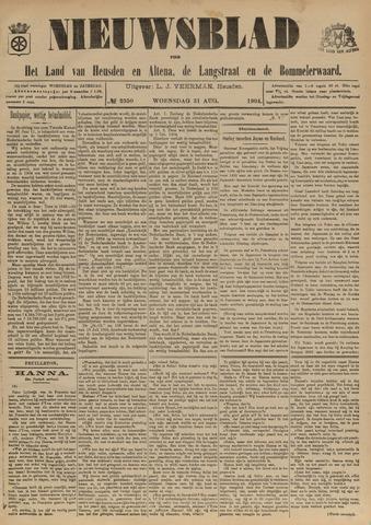 Nieuwsblad het land van Heusden en Altena de Langstraat en de Bommelerwaard 1904-08-31