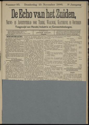 Echo van het Zuiden 1886-11-25