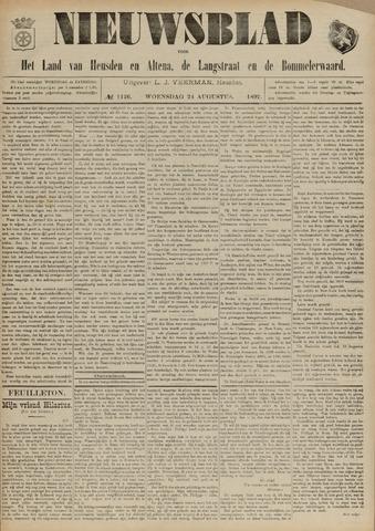 Nieuwsblad het land van Heusden en Altena de Langstraat en de Bommelerwaard 1892-08-24