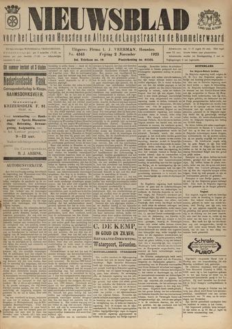 Nieuwsblad het land van Heusden en Altena de Langstraat en de Bommelerwaard 1923-11-02