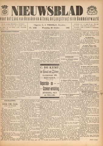 Nieuwsblad het land van Heusden en Altena de Langstraat en de Bommelerwaard 1921-10-26