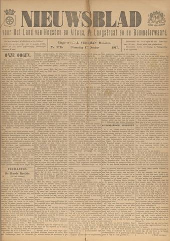 Nieuwsblad het land van Heusden en Altena de Langstraat en de Bommelerwaard 1917-10-17