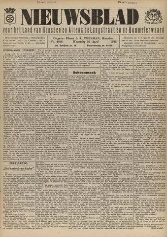 Nieuwsblad het land van Heusden en Altena de Langstraat en de Bommelerwaard 1925-04-29