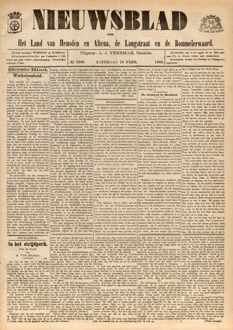 Nieuwsblad het land van Heusden en Altena de Langstraat en de Bommelerwaard 1905-02-18