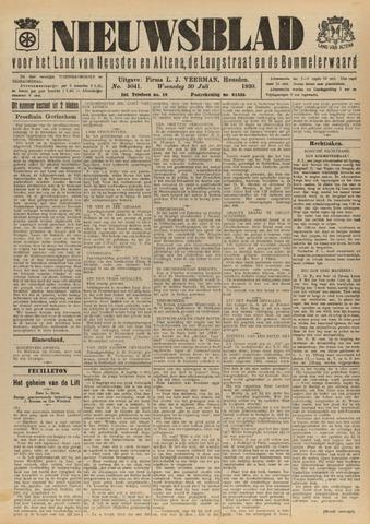 Nieuwsblad het land van Heusden en Altena de Langstraat en de Bommelerwaard 1930-07-30