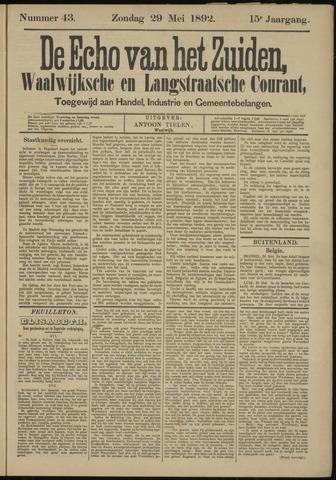 Echo van het Zuiden 1892-05-29