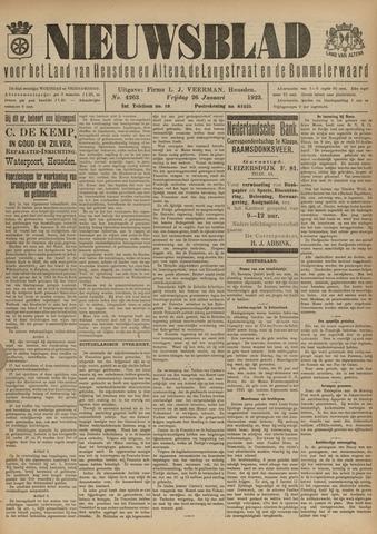 Nieuwsblad het land van Heusden en Altena de Langstraat en de Bommelerwaard 1923-01-26