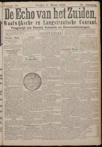 Echo van het Zuiden 1908-03-02