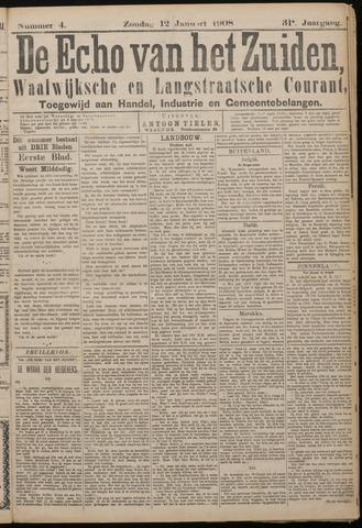 Echo van het Zuiden 1908-01-12