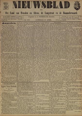 Nieuwsblad het land van Heusden en Altena de Langstraat en de Bommelerwaard 1894-04-21