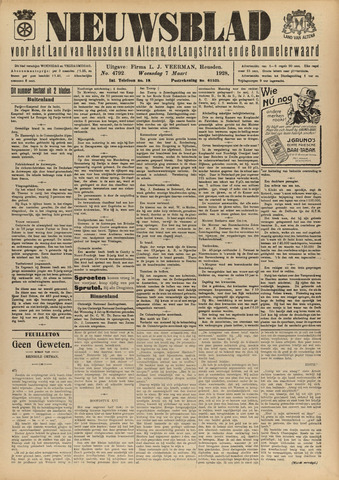 Nieuwsblad het land van Heusden en Altena de Langstraat en de Bommelerwaard 1928-03-07