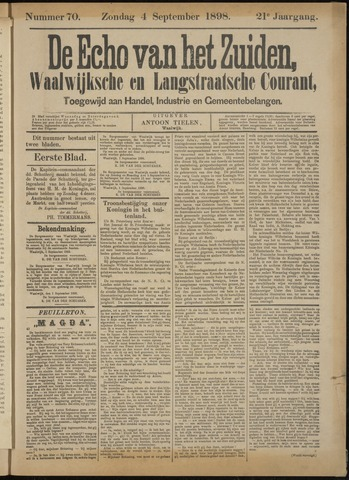 Echo van het Zuiden 1898-09-04