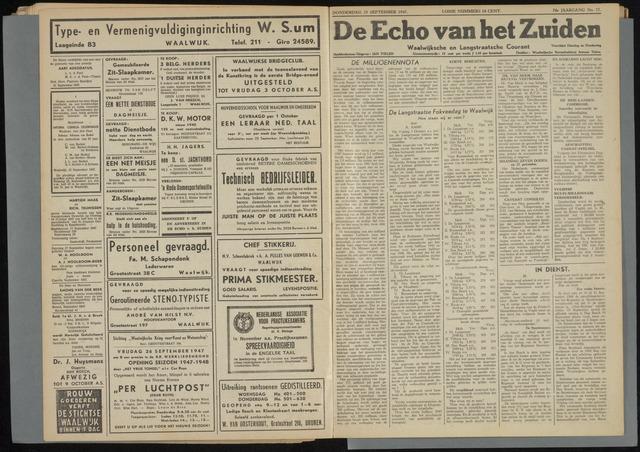 Echo van het Zuiden 1947-09-25