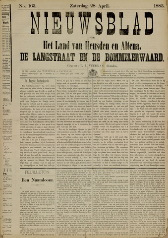Nieuwsblad het land van Heusden en Altena de Langstraat en de Bommelerwaard 1883-04-28