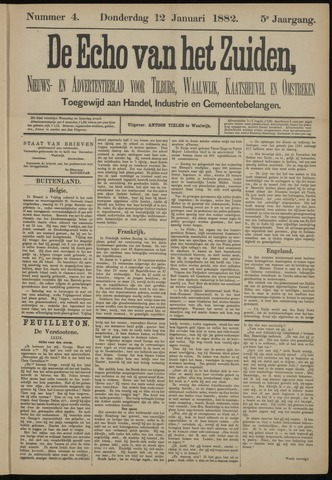 Echo van het Zuiden 1882-01-12