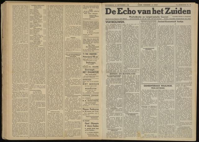 Echo van het Zuiden 1948-09-30