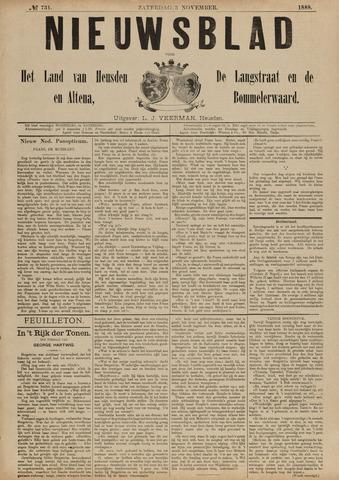 Nieuwsblad het land van Heusden en Altena de Langstraat en de Bommelerwaard 1888-11-03