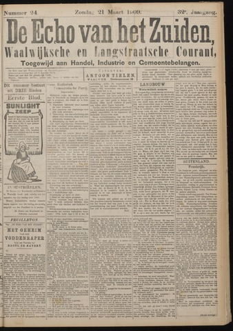 Echo van het Zuiden 1909-03-21