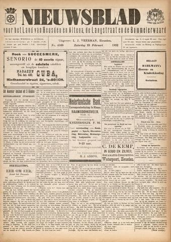 Nieuwsblad het land van Heusden en Altena de Langstraat en de Bommelerwaard 1922-02-25