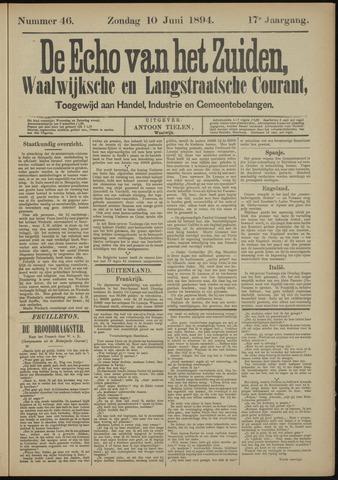 Echo van het Zuiden 1894-06-10