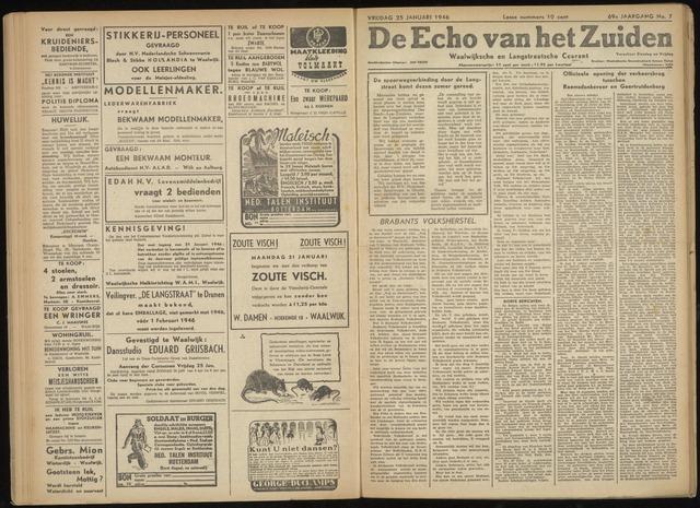 Echo van het Zuiden 1946-01-25