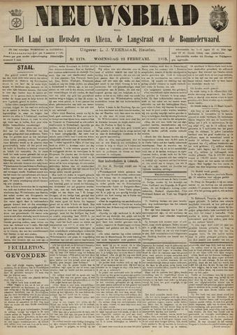 Nieuwsblad het land van Heusden en Altena de Langstraat en de Bommelerwaard 1893-02-22