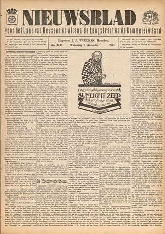 Nieuwsblad het land van Heusden en Altena de Langstraat en de Bommelerwaard 1921-11-09