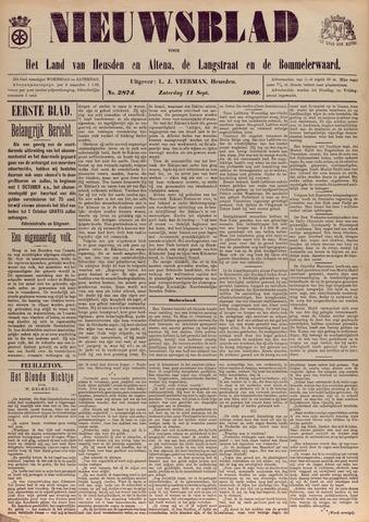 Nieuwsblad het land van Heusden en Altena de Langstraat en de Bommelerwaard 1909-09-11