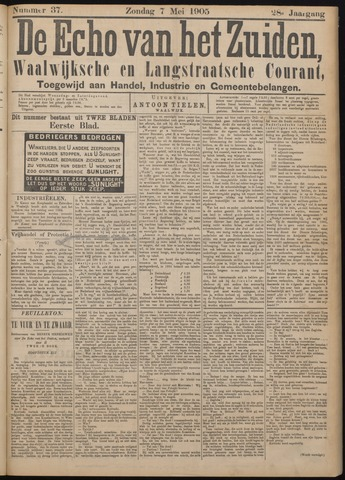 Echo van het Zuiden 1905-05-07