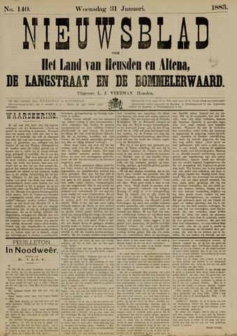 Nieuwsblad het land van Heusden en Altena de Langstraat en de Bommelerwaard 1883-01-31