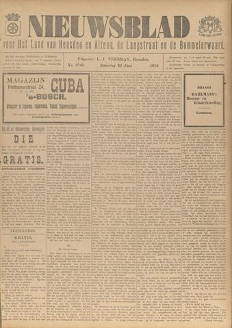 Nieuwsblad het land van Heusden en Altena de Langstraat en de Bommelerwaard 1918-06-22