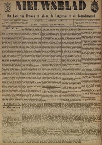 Nieuwsblad het land van Heusden en Altena de Langstraat en de Bommelerwaard 1893-11-29