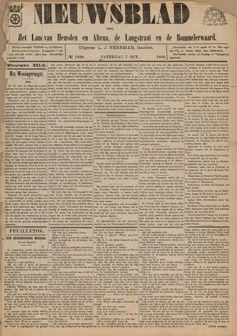 Nieuwsblad het land van Heusden en Altena de Langstraat en de Bommelerwaard 1899-10-07