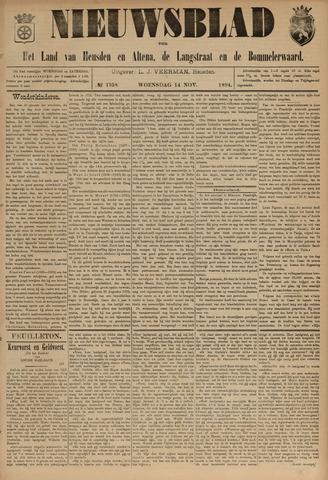 Nieuwsblad het land van Heusden en Altena de Langstraat en de Bommelerwaard 1894-11-14
