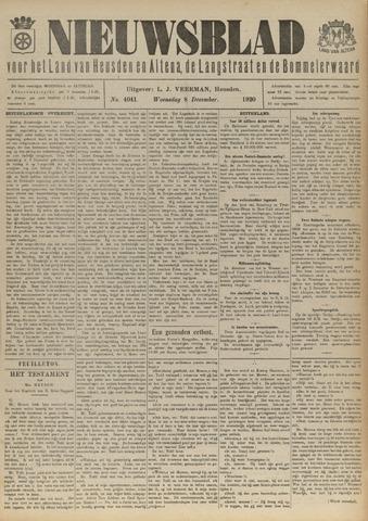 Nieuwsblad het land van Heusden en Altena de Langstraat en de Bommelerwaard 1920-12-08