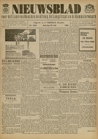 Nieuwsblad het land van Heusden en Altena de Langstraat en de Bommelerwaard 1922-07-22