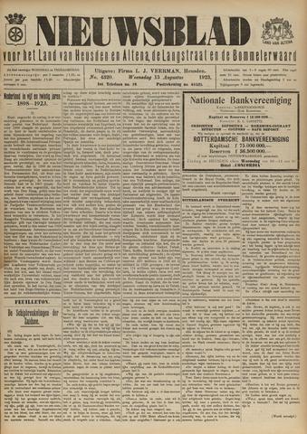 Nieuwsblad het land van Heusden en Altena de Langstraat en de Bommelerwaard 1923-08-15